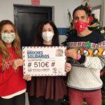 Entrega de un total de 510€ a Bancosol en la campaña Broches solidarios 2020