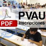 Inscripción en la PEVAU 2021